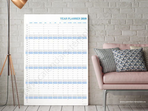 2019 vertical yearly planner