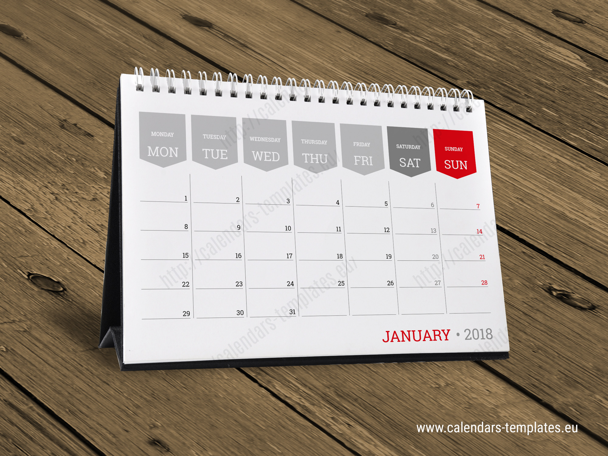 This is an image of Eloquent Printable Desk Calendars