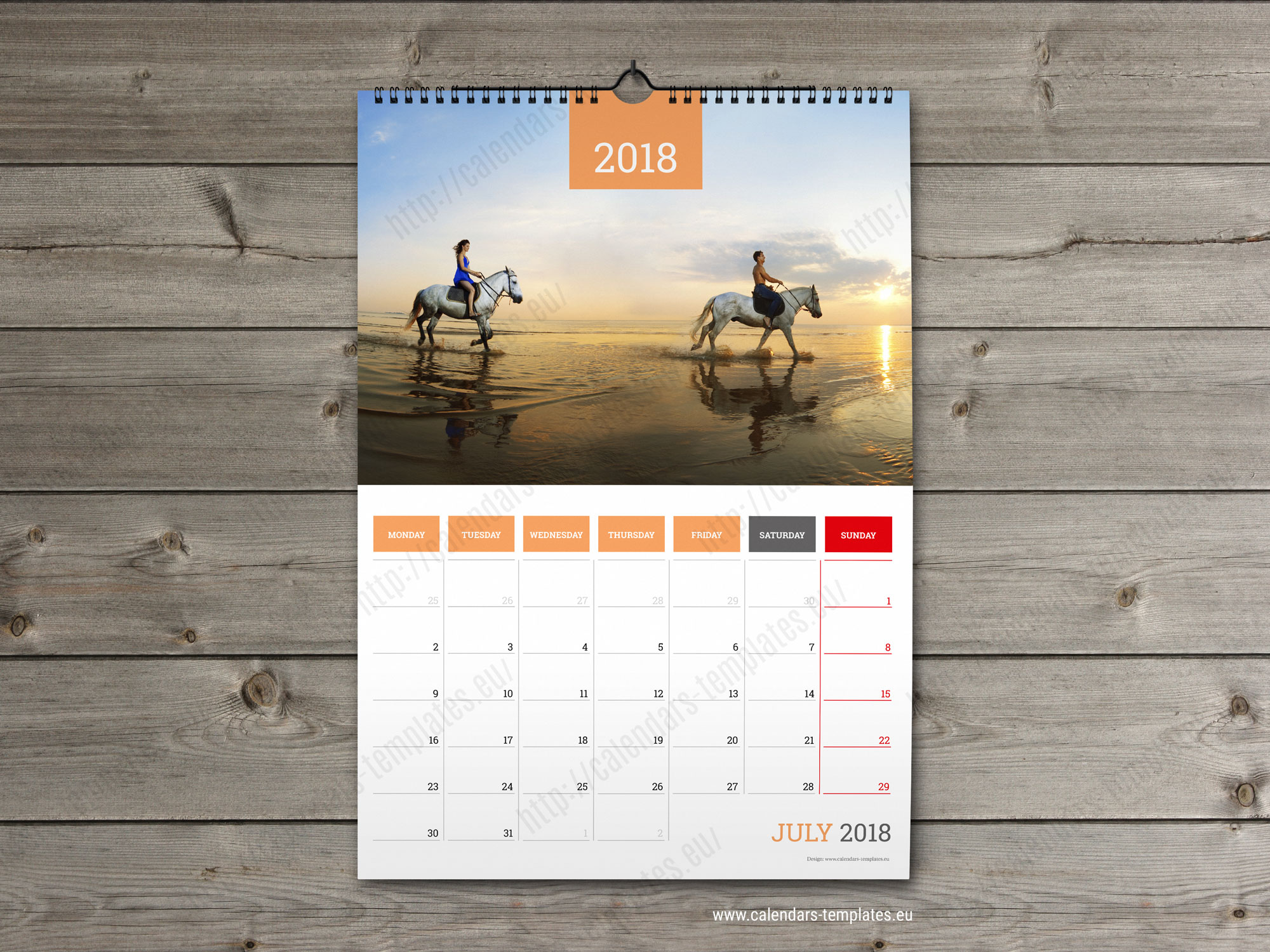 monthly planner 2018 template printable photo wall calendar. Black Bedroom Furniture Sets. Home Design Ideas