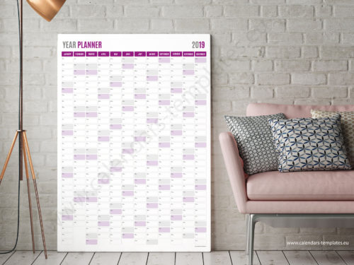 vertical planner 2019 template