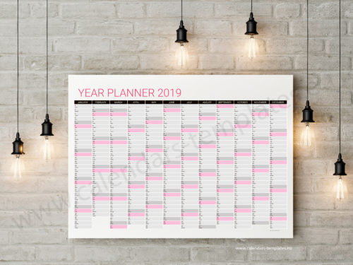 annual wall planner 2019