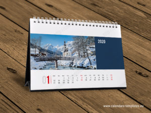 2020 desk table tent calendar template