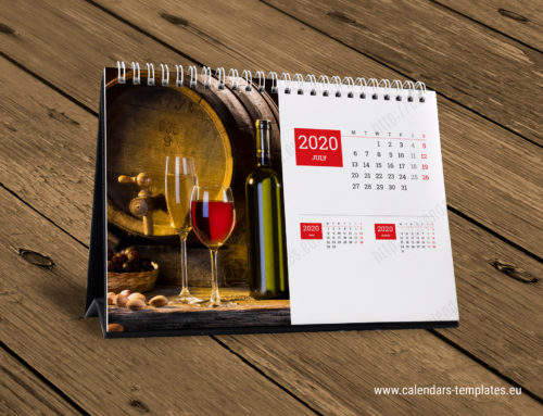 2020 Desk Monthly Calendar KB10-W2