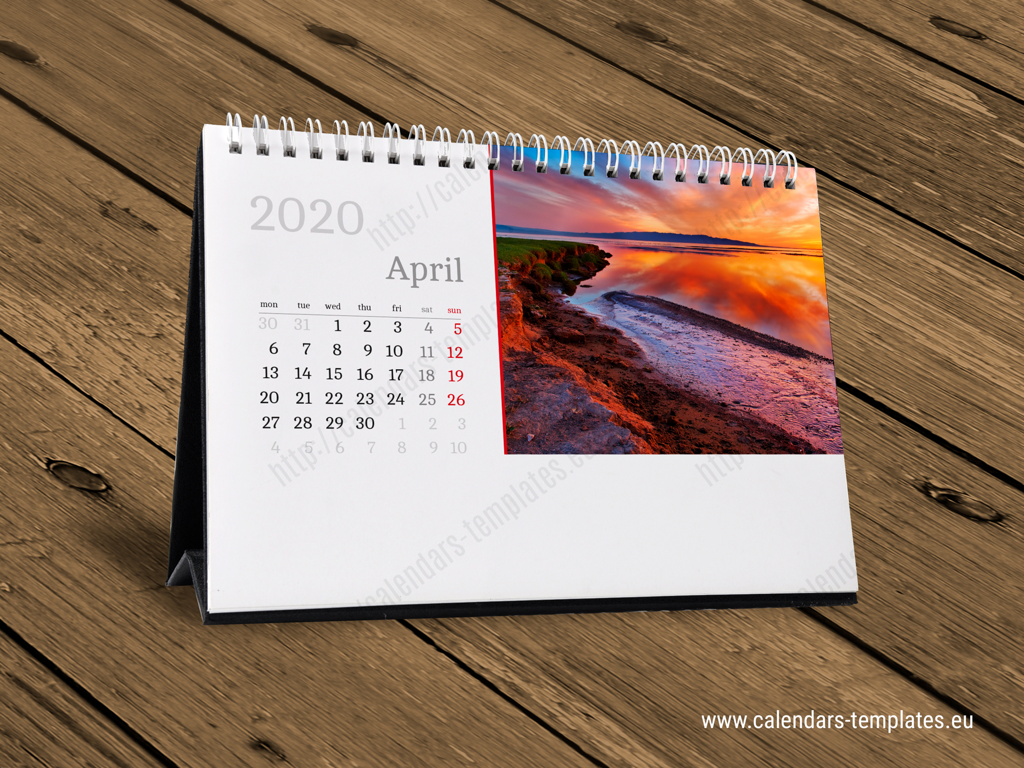 2020 Desk Monthly Calendar KB10-W4