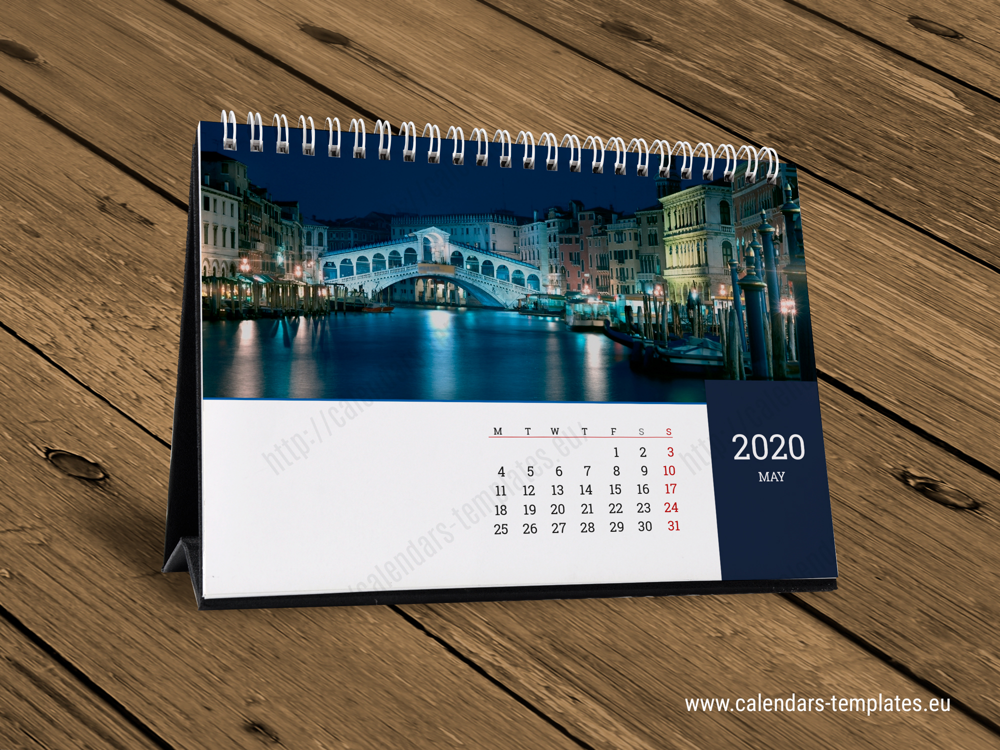 2020 Desk Monthly Calendar KB10-W6