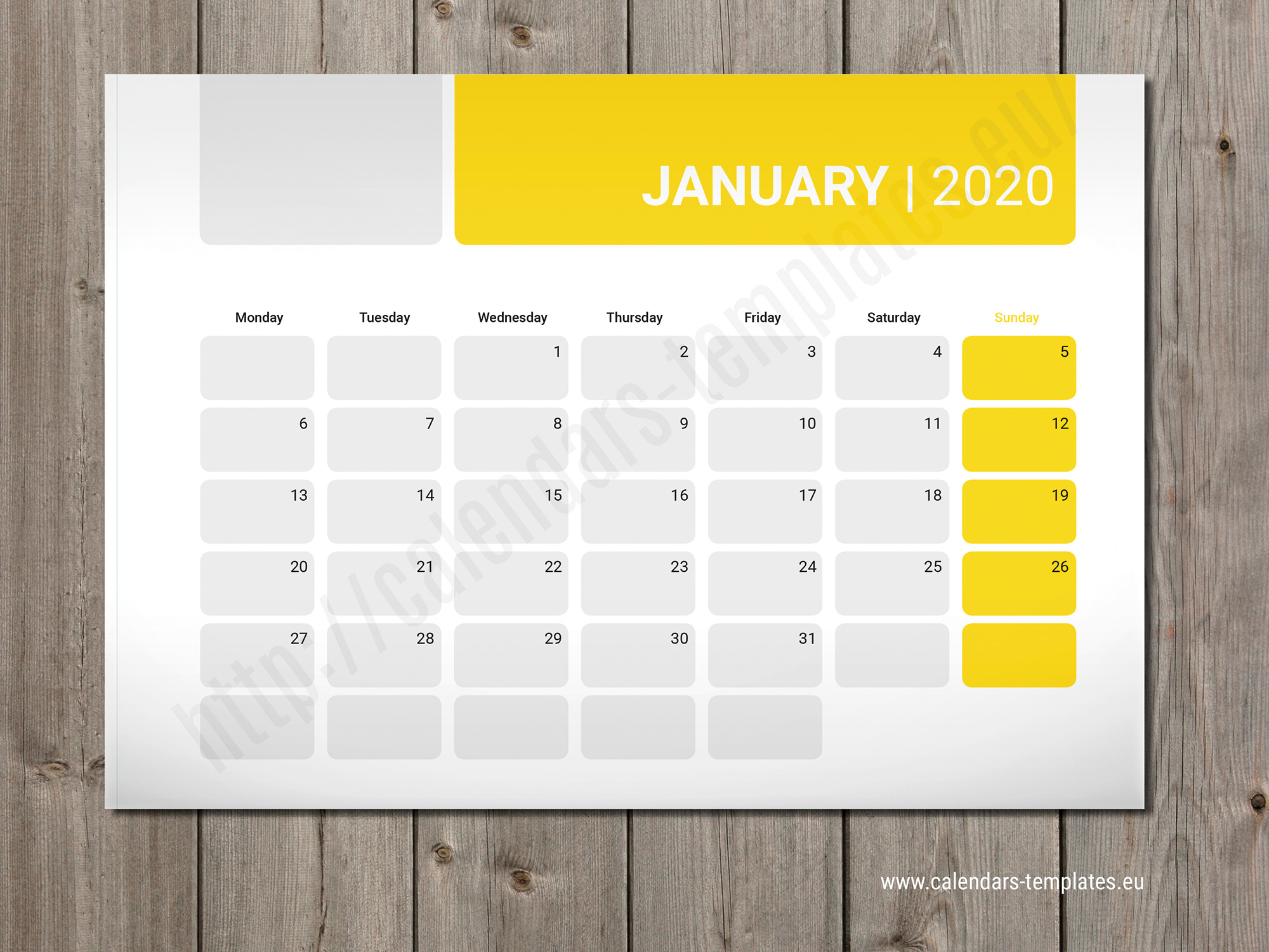 2020 Monthly planner PM-W5