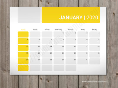 2020 monthly planners templates calendars