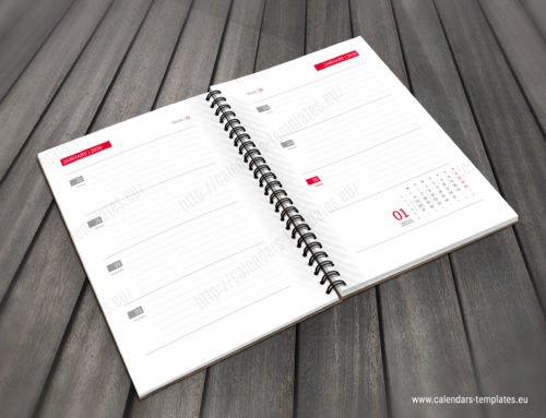 2020 Notepad planner PD-W1