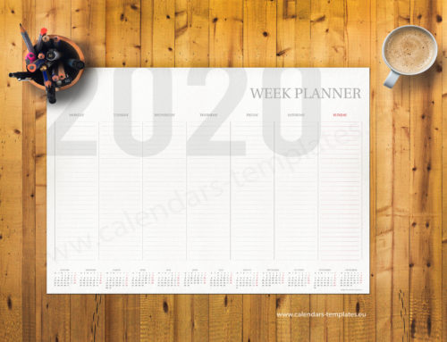 2020 Weekly planner PT-W3