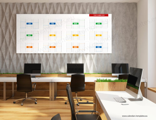 2021 Yearly wall planner KP-W21 Long color