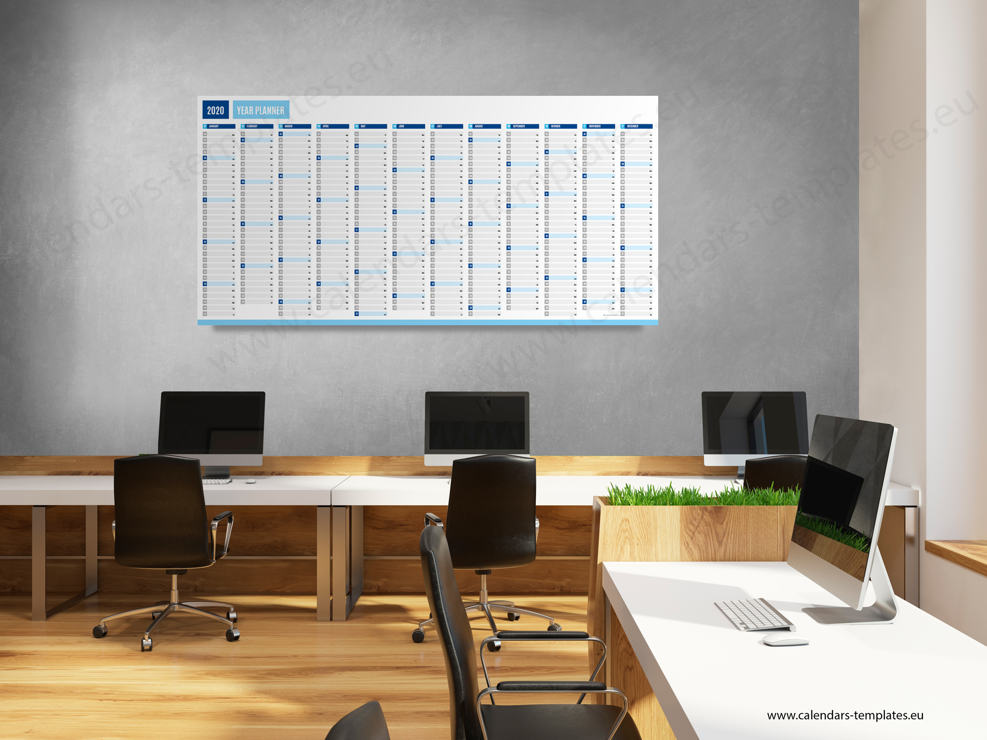 2020 Yearly wall planner KP-W4Long