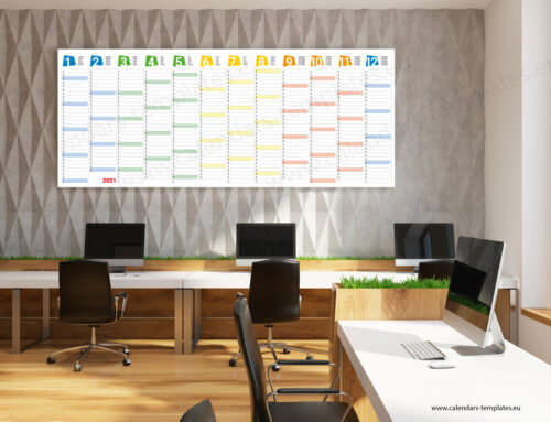 2021 Yearly wall planner KP-W24 Long