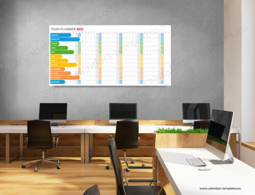 2021 Yearly wall planner KP-W5 Long color