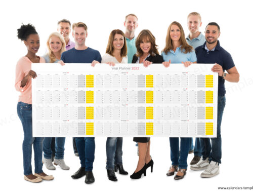 2022 Yearly wall planner KP-W11 Long