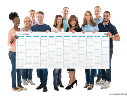 2022 Yearly wall planner KP-W15 Long