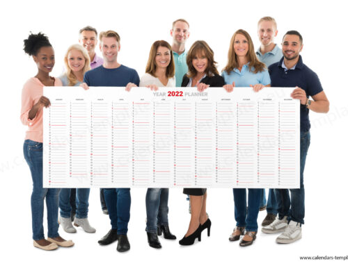 2022 Yearly wall planner KP-W23 Long