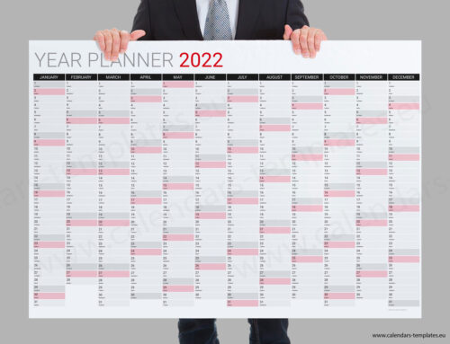 2022 Yearly wall planner KP-W29