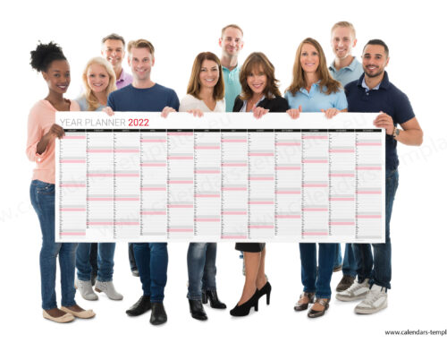 2022 Yearly wall planner KP-W29 Long